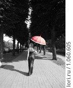 Купить «Девушка уходит», фото № 1060605, снято 26 августа 2009 г. (c) Троицкая Алиса / Фотобанк Лори
