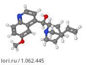 Купить «Шаростержневая модель молекулы хинина», иллюстрация № 1062445 (c) Владимир Федорчук / Фотобанк Лори