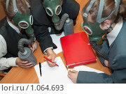 Купить «Люди в противогазах», фото № 1064693, снято 23 мая 2009 г. (c) Яков Филимонов / Фотобанк Лори