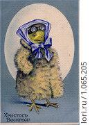Купить «Дореволюционная пасхальная открытка», фото № 1065205, снято 27 августа 2009 г. (c) Сергей Антонов / Фотобанк Лори