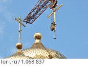 Строительство храма (2009 год). Стоковое фото, фотограф Григорий Дашкин / Фотобанк Лори