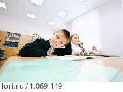 Купить «Ученик начальной школы», фото № 1069149, снято 20 августа 2009 г. (c) Евгений Захаров / Фотобанк Лори