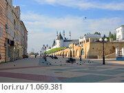Купить «Вид на Казанский кремль с улицы Баумана», фото № 1069381, снято 13 августа 2009 г. (c) Алексей Баринов / Фотобанк Лори