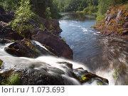 Купить «Водопад Кивач, Карелия», фото № 1073693, снято 25 июля 2009 г. (c) Сергей Плахотин / Фотобанк Лори