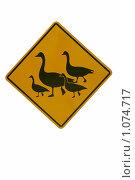 Купить «Дорожный знак», фото № 1074717, снято 29 июля 2007 г. (c) Ольга Утлякова / Фотобанк Лори