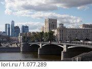 Купить «Бородинский мост в Москве», фото № 1077289, снято 26 августа 2009 г. (c) Юрий Синицын / Фотобанк Лори