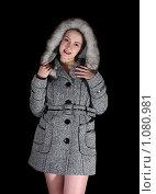 Купить «Девушка в сером пальто», фото № 1080981, снято 17 ноября 2008 г. (c) Яков Филимонов / Фотобанк Лори