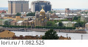 Купить «Строительство нового здания Биржи, Санкт-Петербург», фото № 1082525, снято 7 июня 2009 г. (c) Сергей Разживин / Фотобанк Лори