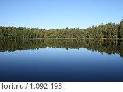 Купить «Лесное озеро. Селигер», фото № 1092193, снято 12 сентября 2009 г. (c) Устинов Дмитрий Николаевич / Фотобанк Лори
