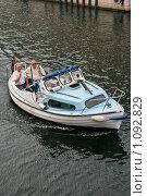 Купить «Дания. Копенгаген. Городской пейзаж. Катер», фото № 1092829, снято 4 августа 2009 г. (c) Александр Секретарев / Фотобанк Лори