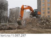Снос дома (2009 год). Редакционное фото, фотограф Евгений Нелихов / Фотобанк Лори