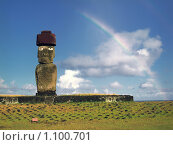 Купить «Остров Пасхи», фото № 1100701, снято 22 апреля 2019 г. (c) Leksele / Фотобанк Лори