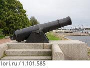 Купить «Кронштадт. Полуденное орудие», фото № 1101585, снято 16 сентября 2009 г. (c) Вячеслав Беляев / Фотобанк Лори