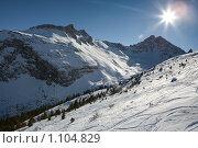 Купить «Французские Альпы», фото № 1104829, снято 3 января 2009 г. (c) Сергей Шумаков / Фотобанк Лори