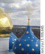 Купола Успенского Собора (2006 год). Стоковое фото, фотограф Ирина Малашкина / Фотобанк Лори
