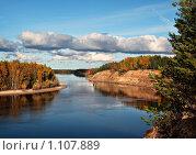 Купить «Осенний пейзаж. Река Конда, город Урай, Ханты-Мансийский автономный округ.», фото № 1107889, снято 20 сентября 2009 г. (c) Алексей Рогожа / Фотобанк Лори