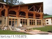 Строительство коттеджа. Стоковое фото, фотограф Иван Новиков / Фотобанк Лори
