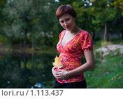 Красивая беременная женщина. Стоковое фото, фотограф Кристина Викулова / Фотобанк Лори