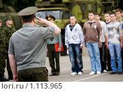 Купить «Военные сборы», фото № 1113965, снято 2 июля 2008 г. (c) Zelenograd.ru / Фотобанк Лори