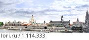 """Вид на Дрезден -  """"Венеция на Эльбе"""", Германия. Панорама (2009 год). Редакционное фото, фотограф Vitas / Фотобанк Лори"""