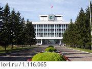Купить «Здание Томской областной администрации - Томск», фото № 1116065, снято 27 сентября 2009 г. (c) Александр Бурдовицин / Фотобанк Лори