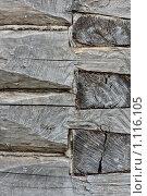 Стена из деревянного бруса. Стоковое фото, фотограф Андрей Сучков / Фотобанк Лори