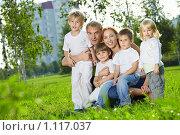 Купить «Большая семья», фото № 1117037, снято 11 сентября 2009 г. (c) Raev Denis / Фотобанк Лори