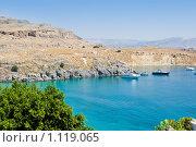 Купить «Гавань на Родосе, Греция», фото № 1119065, снято 10 августа 2009 г. (c) Вероника Галкина / Фотобанк Лори