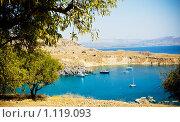 Купить «Гавань на Родосе, Греция», фото № 1119093, снято 10 августа 2009 г. (c) Вероника Галкина / Фотобанк Лори