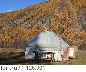 Купить «Юрта», фото № 1126901, снято 24 сентября 2009 г. (c) Виталий Матонин / Фотобанк Лори