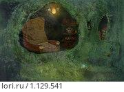 Купить «Кресло, чашки, книжки», иллюстрация № 1129541 (c) Андреева Екатерина / Фотобанк Лори