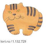 Купить «Тигр. Акварель.», иллюстрация № 1132729 (c) Анастасия Малик / Фотобанк Лори