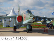 Купить «Штурмовик СУ-25СМ (121АРЗ)», эксклюзивное фото № 1134505, снято 19 августа 2009 г. (c) Алёшина Оксана / Фотобанк Лори