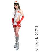 Купить «Девушка в костюме медсестры», фото № 1134749, снято 26 февраля 2009 г. (c) Сергей Сухоруков / Фотобанк Лори