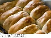 Купить «Готовые пироги на противне», фото № 1137241, снято 19 августа 2009 г. (c) Ann Perova / Фотобанк Лори