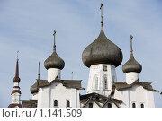 Купить «Собор Преображения Господня в Соловецком монастыре», фото № 1141509, снято 11 сентября 2009 г. (c) Михаил Ворожцов / Фотобанк Лори