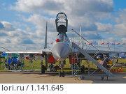 Купить «Истребитель-бомбардировщик Су-30МК», эксклюзивное фото № 1141645, снято 19 августа 2009 г. (c) Алёшина Оксана / Фотобанк Лори