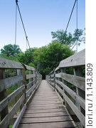 Купить «Подвесной мост», фото № 1143809, снято 28 июля 2007 г. (c) Ольга Утлякова / Фотобанк Лори