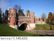 Купить «Фигурный мост в Царицыно», фото № 1145633, снято 11 октября 2009 г. (c) Наталья Волкова / Фотобанк Лори