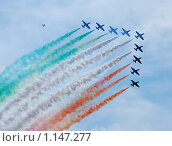 Цветной дым самолетов. Стоковое фото, фотограф Sergey Kashchavtsev / Фотобанк Лори