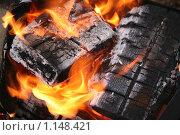 Купить «Горящие дрова крупным планом», фото № 1148421, снято 9 октября 2009 г. (c) Gagara / Фотобанк Лори