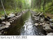 Купить «Соловецкие острова. Каналы между озерами.», фото № 1151993, снято 12 сентября 2009 г. (c) Михаил Ворожцов / Фотобанк Лори