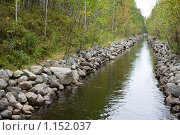 Купить «Соловецкие острова. Каналы между озерами.», фото № 1152037, снято 12 сентября 2009 г. (c) Михаил Ворожцов / Фотобанк Лори