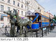 Купить «Петербургская конка», эксклюзивное фото № 1155285, снято 12 июля 2009 г. (c) Александр Щепин / Фотобанк Лори
