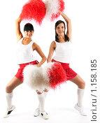 Купить «Чирлидеры (Cheerleaders), группа поддержки», фото № 1158185, снято 20 сентября 2009 г. (c) Игорь Жоров / Фотобанк Лори
