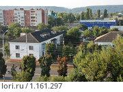 Купить «Маленький город в горах утром», фото № 1161297, снято 8 сентября 2008 г. (c) Георгий Солодко / Фотобанк Лори