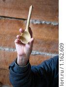 Купить «Деревянная ложка», фото № 1162609, снято 14 августа 2009 г. (c) hunta / Фотобанк Лори