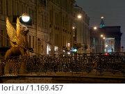 Купить «Банковский мост. Санкт-Петербург», эксклюзивное фото № 1169457, снято 23 октября 2009 г. (c) Александр Алексеев / Фотобанк Лори