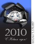 Купить «Белый тигр - символ нового 2010 года», иллюстрация № 1170497 (c) Алексей Кузнецов / Фотобанк Лори