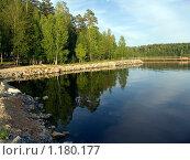 Купить «Рефтинское водохранилище. Залив», фото № 1180177, снято 23 июля 2009 г. (c) Дудакова / Фотобанк Лори